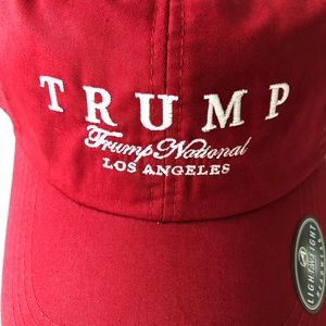 1e424a52b78 Ahead Accessories - NWT TRUMP GOLF NATIONAL LOS ANGELES RED HAT
